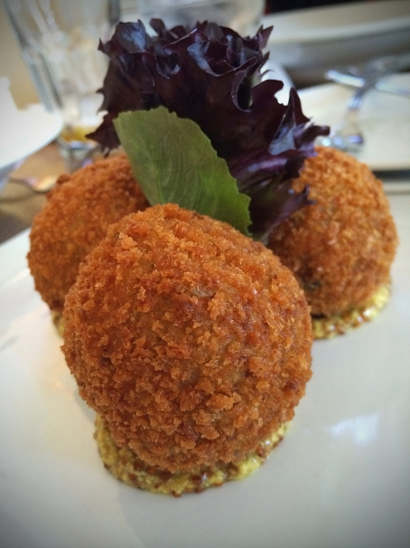 House Made Boudin Balls with Creole Mustard