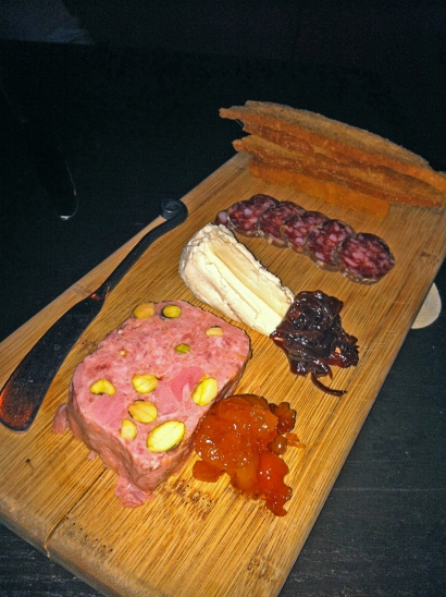 Wild Boar Salami, Belletoile Triple Cream, Country Duck & Pistachio Paté