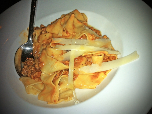 Housemade Pappardelle Veal Bolognese and Parmesan Reggiano