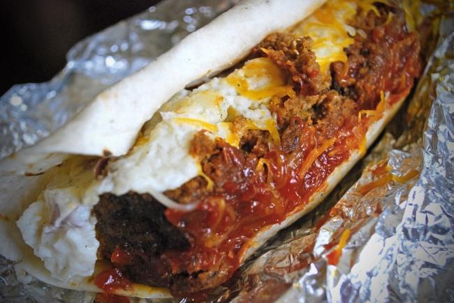 School Daze: Sriracha-Glazed Meatloaf and Smashed Potato