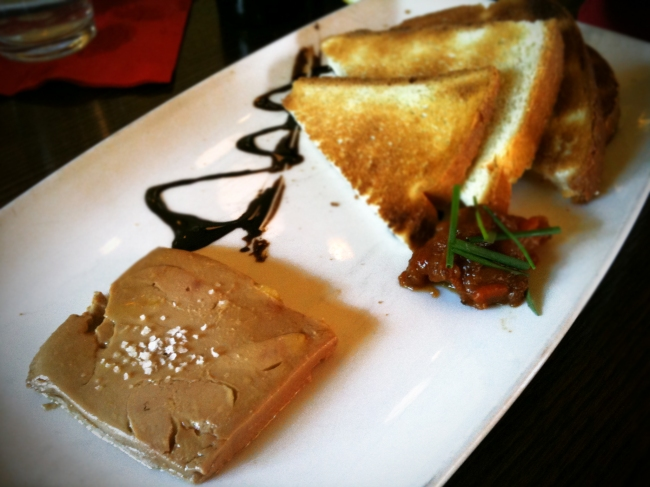 Foie Gras Terrine, Preserved Peach Chutney & Brioche Toast Points