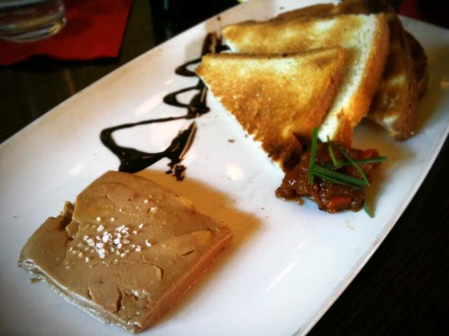 Foie Gras Terrine, Preserved Peach Chutney & Brioche Toast Points