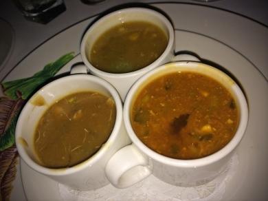 Soups 1-1-1: demi serving of Gumbo, Turtle and Soup du Jour