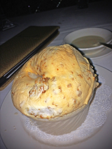 Creole Bread Pudding Souffle w/Wiskey Sauce