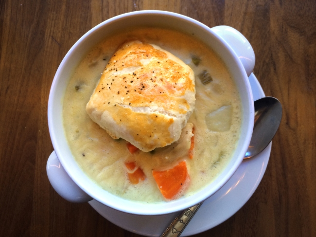 Chicken Pot Pie: Cracked Black Pepper Biscuit Crust
