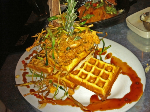 Sage Fried Chicken & Bacon Waffle Tower