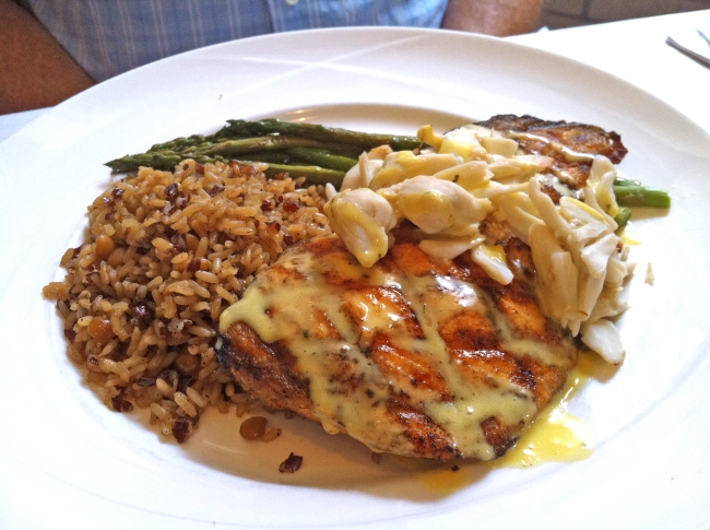 Scottish King Salmon topped with Maryland Crab