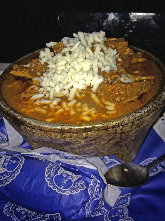 Arrachera en adobo - Skirt steak in chile pasilla sauce