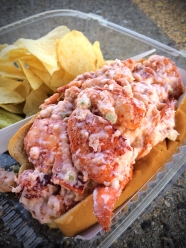 Lobster Roll Meat of two 1 lb. Lobsters (8 oz.) Succulent North Atlantic lobster with a touch of diced celery and mayonnaise