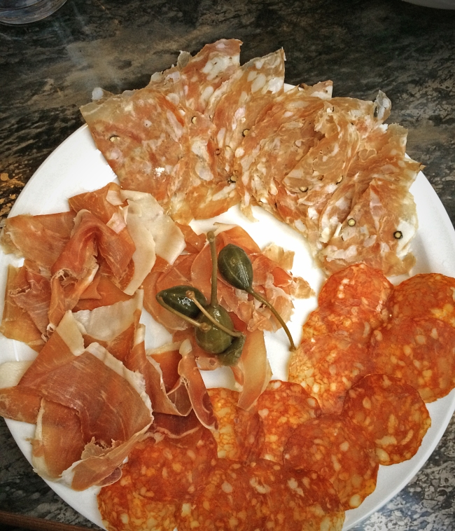 Charcuterie: local country hams, artisan salami & prosciutto