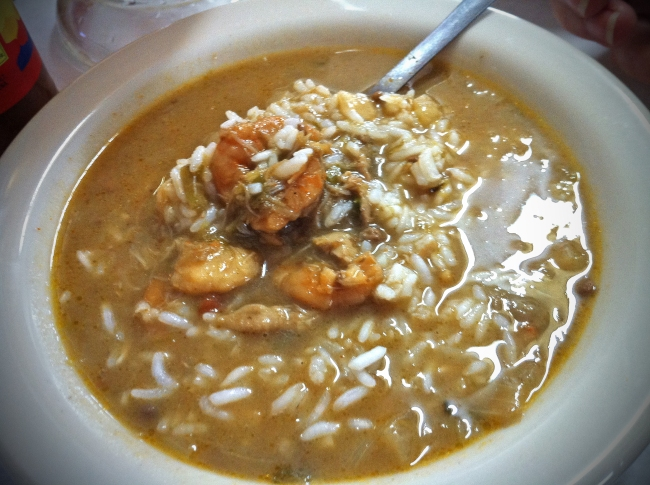 Chicken, Oysters and Andouille Gumbo
