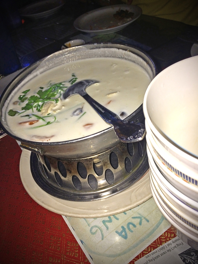 Tom Kha:  rice coconut milk with lemongrass with chicken