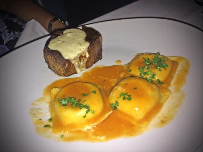 8oz Filet Mignon (bleu cheese ravioli, demi-glace)
