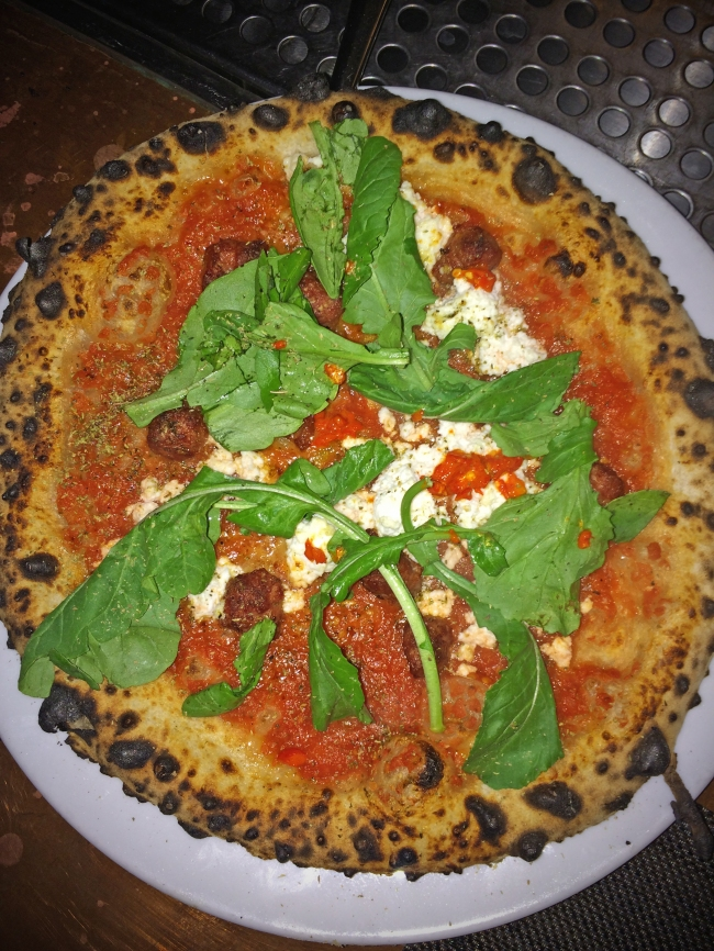 Margherita. san marzano tomatoes. mozzarella. basil. olive oil. sea salt.