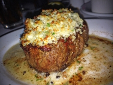 Filet topped with Blue Cheese