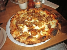WISEGUY- Wood-Roasted Onion, House Smoked Mozzarella, Fennel Sausage