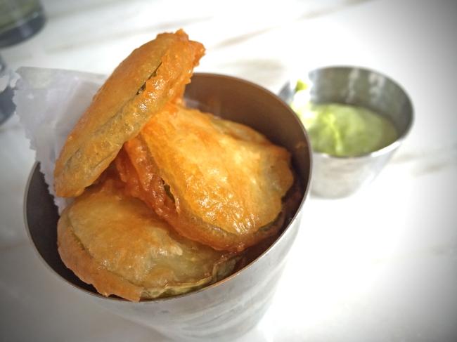 Crispy Fried Pickles w/green goddess aioli