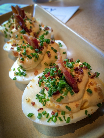 Deviled Eggs/ Crispy Quinoa/ Bacon