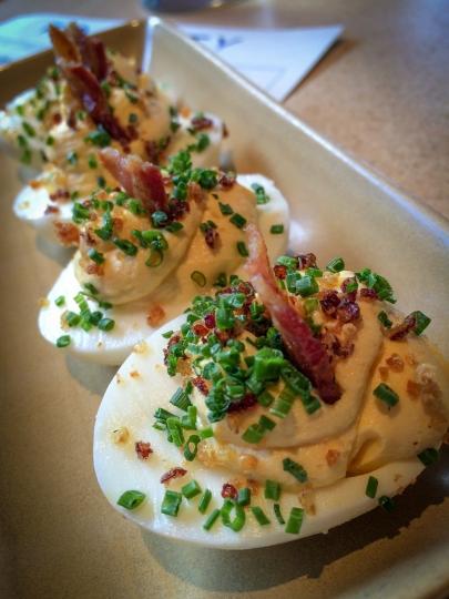 Deviled Eggs/ Crispy Quinoa/ Bacon